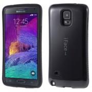 IFACE Mall Θήκη Σιλικόνης TPU με Επένδυση Πλαστικού στην Πλάτη για Samsung Galaxy Note 4 N910 - Μαύρο