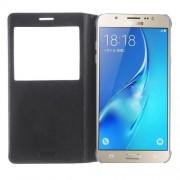 Δερμάτινη Θήκη Βιβλίο Smart Cover για Samsung Galaxy J7 (2016) - Μαύρο