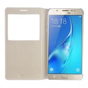 Δερμάτινη Θήκη Βιβλίο Smart Cover για Samsung Galaxy J7 (2016) - Χρυσαφί
