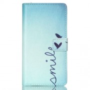 Wallet Leather Stand Case for Sony Xperia M4 Aqua / Dual - Smile and Heart