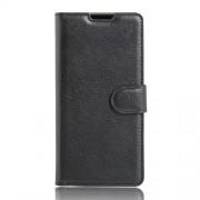 Δερμάτινη Θήκη Πορτοφόλι με Βάση Στήριξης για LG Stylus 2 / LG G Stylo 2 - Μαύρο