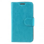 Crazy Horse Leather Card Slot Shell for Lenovo A1000 - Blue