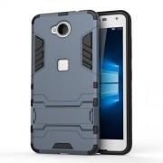 Solid PC + TPU Hybrid Case Shell with Kickstand for Microsoft Lumia 650 / Dual - Dark Blue