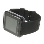 U8 Uwatch Έξυπνο Ρολόι Bluetooth με Αντικλεπτικό Συναγερμό, Βαρόμετρο και Πολλές Άλλες Λειτουργίες - Μαύρο