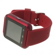 U8 Uwatch Έξυπνο Ρολόι Bluetooth με Αντικλεπτικό Συναγερμό, Βαρόμετρο και Πολλές Άλλες Λειτουργίες - Κόκκινο