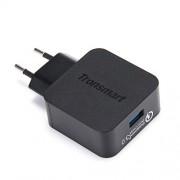 TRONSMART WC1T  Αντάπτορας Τοίχου Γρήγορης Φόρτισης 3.0 USB με Καλώδιο Φόρτισης MicroUSB (1,8 μέτρα) - Μαύρο