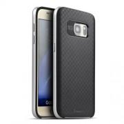 IPAKY Υβριδική Θήκη Συδυασμού Σιλικόνης TPU και Πλαστικού για Samsung Galaxy S7 G930 - Ασημί/Μαύρο