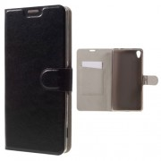 Δερμάτινη Θήκη Πορτοφόλι με Βάση Στήριξης για Sony Xperia XA Ultra - Μαύρο