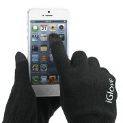 Interwoven Touch Screen Gloves for iPhone iPad and Capacitive Touchscreen Devices;Black