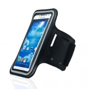 Black Sports Workout Gym Brushed Armband Case for Samsung Galaxy S5 G900 / S4 I9500 / S3 I9300