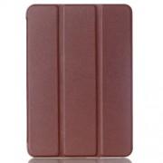 Δερμάτινη Θήκη Βιβλίο Tri-Fold με Βάση Στήριξης για  Galaxy Tab S2 8.0 T715 T710 - Καφέ