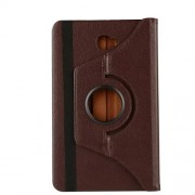 Litchi Grain Rotary Stand Leather Case Cover for Samsung Galaxy Tab A 10.1 (2016) T580 T585 - Coffee