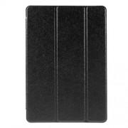 Δερμάτινη Θήκη Βιβλίο Tri Fold με Βάση Στήριξης (Όψη Μεταξιού) για Samsung Galaxy Tab A 10.1 (2016) T580 - Μαύρο