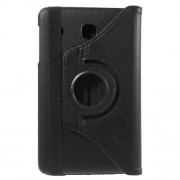 Litchi Leather Flip Case for Samsung Galaxy Tab E 8.0 T375 with Rotary Stand - Black