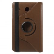 Rotary Stand Litchi Leather Protective Cover for Samsung Galaxy Tab E 8.0 T375 - Brown