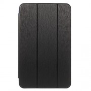 Toothpick Tri-fold Stand Leather Case for Samsung Galaxy Tab E 8.0 T375 T377 - Black