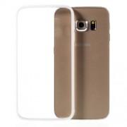Θήκη Σιλικόνης TPU με Διάφανη Σκληρή Πλάτη για Samsung Galaxy S6 Edge G925 - Λευκό
