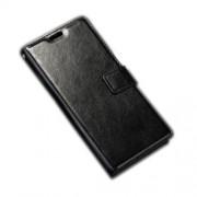 Δερμάτινη Θήκη Πορτοφόλι με Βάση Στήριξης για Sony Xperia E5 - Μαύρο