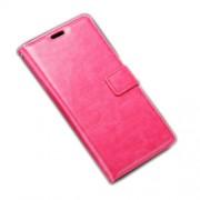 Δερμάτινη Θήκη Πορτοφόλι με Βάση Στήριξης για Sony Xperia E5 - Φούξια