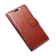 Δερμάτινη Θήκη Πορτοφόλι με Βάση Στήριξης για Sony Xperia E5 - Καφέ