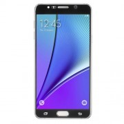 Tempered Glass Screen Protective Film for Samsung Galaxy Note 5 N920 Silk Print Complete Covering - Black