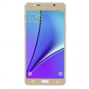 Tempered Glass Screen Guard Film for Samsung Galaxy Note 5 N920 Silk Print Complete Covering - Champagne