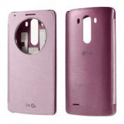Δερμάτινη Θήκη Βιβλίο Smart Cover με Ενσωματωμένο Καπάκι Μπαταρίας και chip Ασύρματης Φόρτισης για LG G3 D850 D855 LS990 - Ροζ