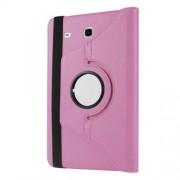 Περιστρεφόμενη Δερμάτινη Θήκη Βιβλίο με Βάση Στήριξης για Samsung Galaxy Tab E 9.6 T560 / T561 - Ροζ