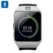 Uhappy UW1 Bluetooth Phone Watch - 1.54 Inch Screen, Pedometer, Sedentary Reminder, GSM, NFC Support, SD Card - Silver