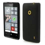 Black Matte Flexible Jelly TPU Case for Nokia Lumia 520 525