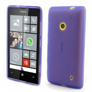 Purple for Nokia Lumia 520 525 Frosted Soft TPU Gel Cover