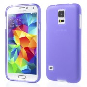 Purple Double-sided Frosted TPU Case for Samsung Galaxy S5 G900 G900A G900T