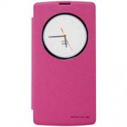 NILLKIN Sparkle Series Δερμάτινη Θήκη Βιβλίο Smart Cover για LG Magna H502F H500F - Φούξια