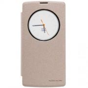 NILLKIN Sparkle Series Δερμάτινη Θήκη Βιβλίο Smart Cover για LG Magna H502F H500F - Σαμπανιζέ