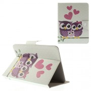 Love Owl Family Universal Leather Tablet Case for iPad mini 2 3 / Samsung Galaxy Tab T310 T335 Etc. Size: 21.5 x 14cm
