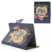 Love Owl Couple Universal Leather Case for iPad mini 2 3 / Samsung Galaxy Tab 8.0 T335 Etc. Size: 21.5 x 14cm