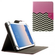 Pink Chevron Stripes Universal Leather Stand Case for Amazon Fire HD 7 / Samsung Galaxy Tab 4 7.0 T230 etc. Size: 20.3 x 14cm