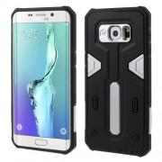 PC TPU Hybrid Phone Cover for Samsung Galaxy S6 edge Plus G928 - Silver