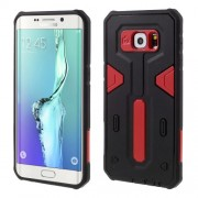 PC TPU Combo Phone Case for Samsung Galaxy S6 edge Plus G928 - Red