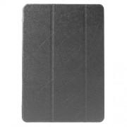 Δερμάτινη Θήκη Βιβλίο Tri-Fold με Βάση Στήριξης (Όψη Μεταξιού) για Samsung Galaxy Tab A 9.7 T550 T555 - Γκρι