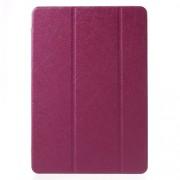 Δερμάτινη Θήκη Βιβλίο Tri-Fold με Βάση Στήριξης (Όψη Μεταξιού) για Samsung Galaxy Tab A 9,7 T550 T555 - Φούξια