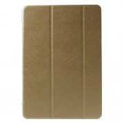 Tri-fold Stand Silk Leather Cover for Samsung Galaxy Tab A 9.7 T550 T555 - Gold
