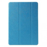 Tri-fold Stand Silk Leather Cover for Samsung Galaxy Tab A 9.7 T550 T555 - Baby Blue