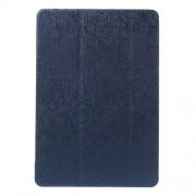 Δερμάτινη Θήκη Βιβλίο Tri-Fold με Βάση Στήριξης (Όψη Μεταξιού) για Samsung Galaxy Tab A 9.7 T550 T555 - Σκούρο Μπλε