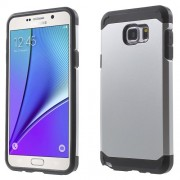 TPU + PC Hybrid Phone Shell for Samsung Galaxy Note 5 N920 - Silver