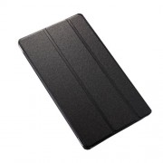 Tri-fold Sand-like Smart Leather Case for Samsung Galaxy Tab S 8.4 T700 T705 - Black