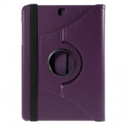 For Samsung Galaxy Tab A 9,7 T550 T555 Lychee Leather Cover with Rotary Stand - Purple