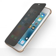 ROCK Dr. V Series Θήκη Βιβλίο Υβριδική Σιλικόνης και Πλαστικού στην Πλάτη και Διάφανη Γκρι Πρόσοψη με Δυνατότητα Αφής για iPhone 7 - Χρυσαφί