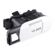 VR BOX Γυαλιά Virtual Reality 3D V2 με Bluetooth Remote Shutter που Προσαρμόζονται στο Κεφάλι για διαστάσεις iPhone 6s Plus / Samsung Galaxy Note5 - Μαύρο/Λευκό