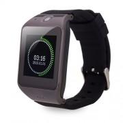 Uhappy UW1 Bluetooth Κινητό Ρολόι με Οθόνη 1.54 ίντσες, Βηματόμετρο, Υπενθύμιση, GSM, NFC Υποστήριξη κάρτας SD - Μαύρο
